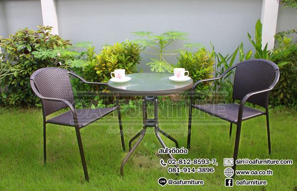 ชุดโต๊ะ-เก้าอี้หวายเทียม COFFEE SET