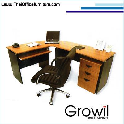 โต๊ะทำงานรูปตัวแอลมุมโล่ง(icon)