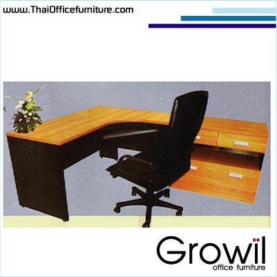 โต๊ะทำงานรูปตัวแอลตัวต่อสิ้นชัก (BELL)