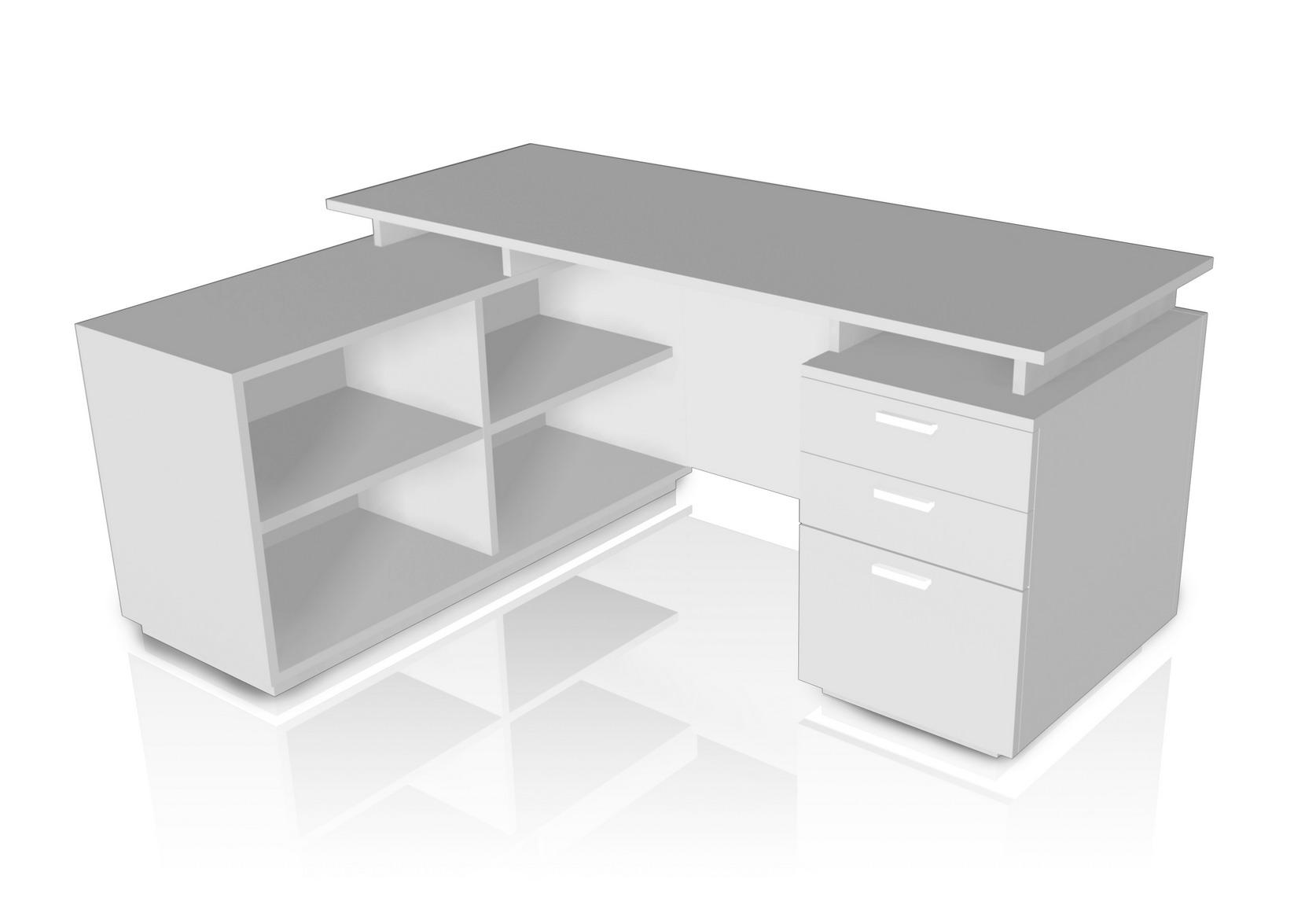 ชุดโต๊ะทำงานผู้บริหาร Flexi 160 Set ขนาด 160(ก)120(ล)*75(ส) ซม. (เมลามีน)