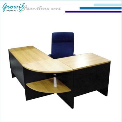 ชุดโต๊ะทำงานผู้บริหารรูปตัวแอล (เมลามีน) หมวด เฟอร์นิเจอร์ สำนักงาน