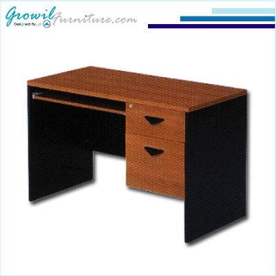 โต๊ะคอมพิวเตอร์ ขนาด 120ซม. 2 ลิ้นชัก (เมลามีน)