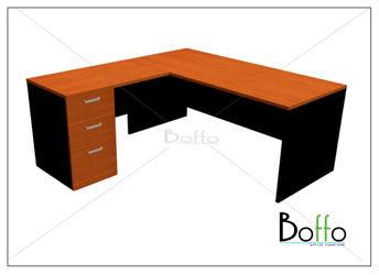 ชุดโต๊ะทำงานผู้บริหาร ขนาด 160(ก)180(ล)*75(ส) ซม. (เมลามีน)