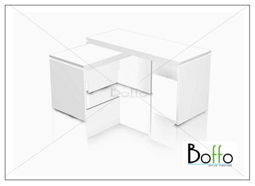 ชุดโต๊ะทำงานผู้บริหาร Flexi 150 Set ขนาด 150(ก)120(ล)*75(ส) ซม. (เมลามีน)