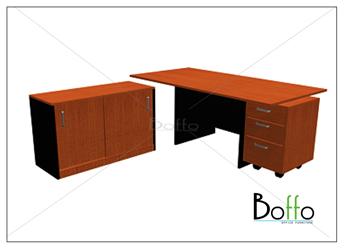 ชุดโต๊ะทำงานผู้บริหาร BFW 180 SET ขนาด 180(ก)90(ล)*75(ส) ซม. (เมลามีน)