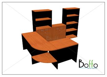 ชุดโต๊ะทำงานผู้บริหาร BFW SPE 1 ขนาด 180(ก)140(ล)*75(ส) ซม. (เมลามีน)