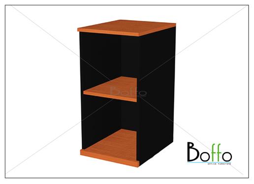 ตู้โมบาย 2 ชั้นโล่ง ขนาด 40(ก)*60(ล)*75(ส) ซม. (เมลามีน)