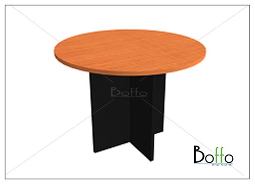 โต๊ะประชุมทรงกลม ขนาด 100(ก)*75(ส) ซม. (เมลามีน)