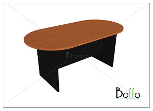 โต๊ะประชุมทรงแค๊ปซูล ขนาด 180(ก)*90(ล)*75(ส) ซม. (เมลามีน)