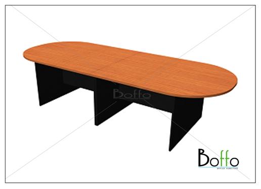 โต๊ะประชุมทรงแค๊ปซูล (แยกชิ้นได้) ขนาด 400(ก)*120(ล)*75(ส) ซม. (เมลามีน)