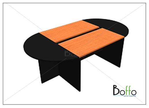 โต๊ะประชุม (แยกชิ้นได้) ขนาด 240(ก)*130(ล)*75(ส) ซม. (เมลามีน)