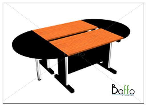 โต๊ะประชุมขาเหล็ก (แยกชิ้นได้) ขนาด 240(ก)*130(ล)*75(ส) ซม. (เมลามีน)