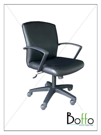เก้าอี้สำนักงาน CH002/JUS  ขนาด 57(ก)*62(ล)*91-103(ส) ซม. (พนักพิงระดับไหล่ เอนหลังได้)