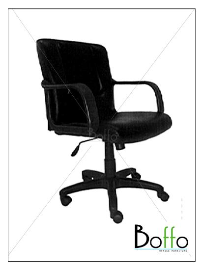เก้าอี้สำนักงาน CH002/BO ขนาด 66(ก)*63(ล)*95-105(ส) ซม. (พนักพิงระดับไหล่ เอนหลังได้)