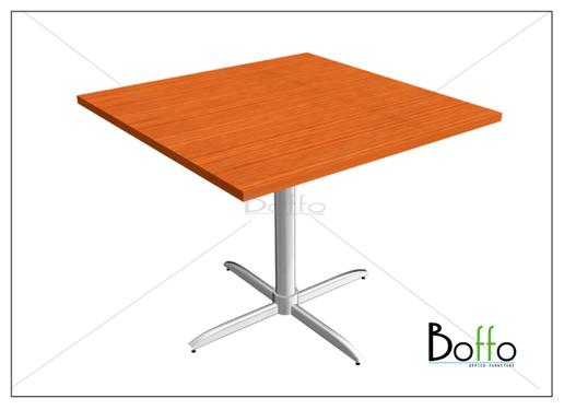 โต๊ะประชุมทรงสี่เหลียม ขาเหล็ก ขนาด 100(ก)*75(ส) ซม.(เมลามีน)