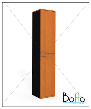 ตู้เอกสารเดี่ยว 2 บานเปิด-ปิด ขนาด 42(ก)*40(ล)*160(ส) ซม. (เมลามีน)