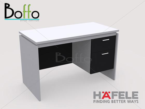 FX1202-60 โต๊ะทำงาน รุ่น Flexi Serie 2 ลิ้นชัก ขนาด 120(ก)*60(ล)*75(ส) ซม.(เมลามีน)