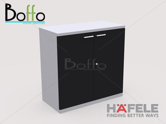 FX80WOS ตู้เก็บเอกสารเตี้ยบาน เปิด-ปิด รุ่น Flexi Serie ขนาด80(ก)*40(ล)*81(ส) ซม. (เมลามีน)