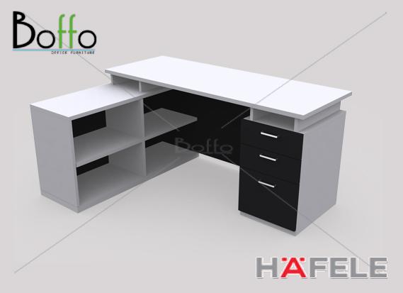 FX160 SET โต๊ะทำงานผู้บริหาร ขนาด 160(ก)60(ล)*75(ส) ซม. (เมลามีน)
