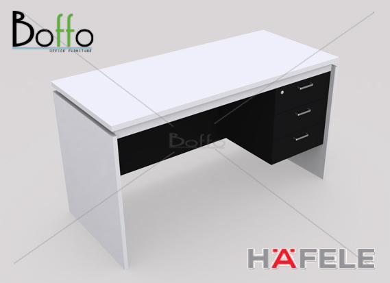 FX1352-60 โต๊ะทำงาน 2 ลิ้นชัก รุ่น Flexi Serie  ขนาด 135(ก)*60(ล)*75(ส) ซม.(เมลามีน)