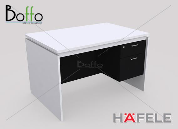 FX1202-80 โต๊ะทำงาน 2 ลิ้นชัก รุ่น Flexi Serie 2 ลิ้นชัก ขนาด120(ก)*80(ล)*75(ส) ซม. (เมลามีน)