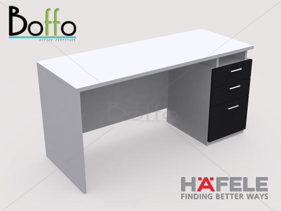 FX1503-80 โต๊ะทำงาน 3 ลิ้นชัก รุ่น Flexi Serie  ขนาด 150(ก)*80(ล)*75(ส) ซม. (เมลามีน)