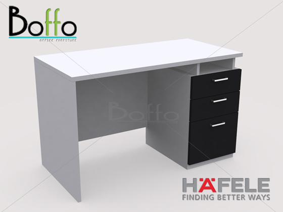 FX1203-80 โต๊ะทำงาน รุ่น Flexi Serie 3 ลิ้นชัก ขนาด120(ก)*80(ล)*75(ส) ซม. (เมลามีน)