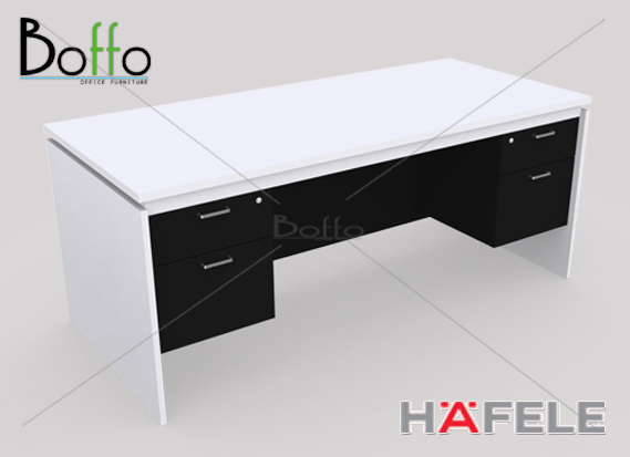FX1822-80 โต๊ะทำงาน 4 ลิ้นชัก รุ่น Flexi Serie ขนาด 180(ก)*80(ล)*75(ส) ซม. (เมลามีน)