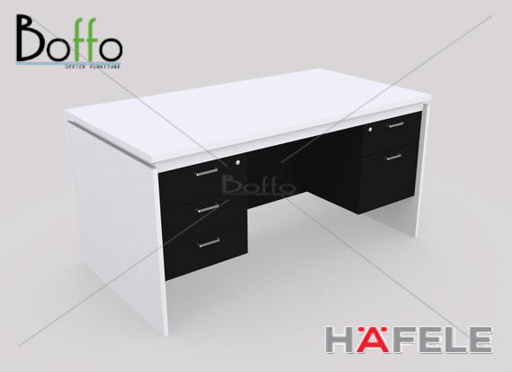 FX1523-80 โต๊ะทำงาน 5 ลิ้นชัก รุ่น Flexi Serie ขนาด 150(ก)*80(ล)*75(ส) ซม. (เมลามีน)