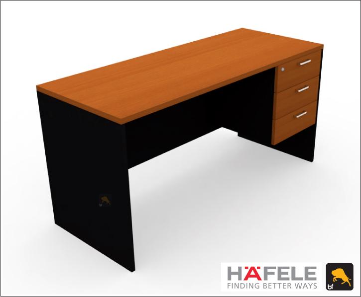 โต๊ะทำงาน 3 ลิ้นชัก ขนาด 150(ก) ซม. (เฟอร์นิเจอร์สำนักงาน)
