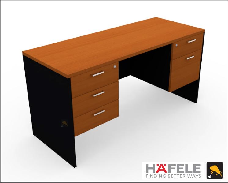 โต๊ะทำงาน 5 ลิ้นชัก ขนาด 150(ก) ซม. (เฟอร์นิเจอร์สำนักงาน)