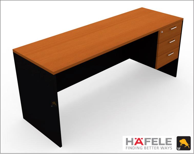 โต๊ะทำงาน 3 ลิ้นชัก ขนาด 180(ก) ซม. (เฟอร์นิเจอร์สำนักงาน)