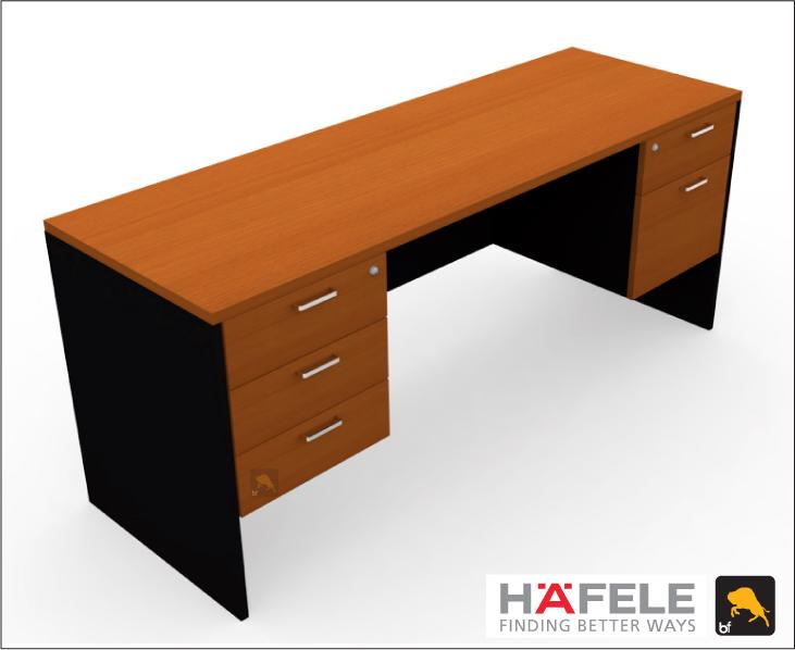 โต๊ะทำงาน 5 ลิ้นชัก ขนาด 180(ก) ซม. (เฟอร์นิเจอร์สำนักงาน)