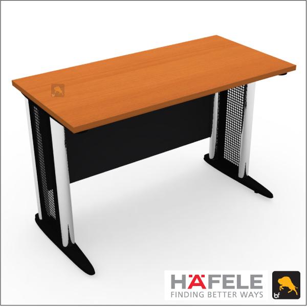 โต๊ะทำงานโล่ง (ขาเหล็ก) ขนาด 120(ก)*60(ล)*75(ส) ซม. (เมลามีน)