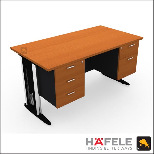 โต๊ะทำงาน 5 ลิ้นชัก ขาเหล็ก ขนาด 150(ก) ซม. (เฟอร์นิเจอร์สำนักงาน)