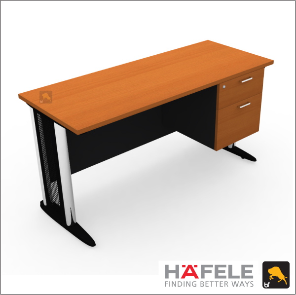 โต๊ะทำงาน 2 ลิ้นชัก ขาเหล็ก ขนาด 150(ก) ซม. (เฟอร์นิเจอร์สำนักงาน)