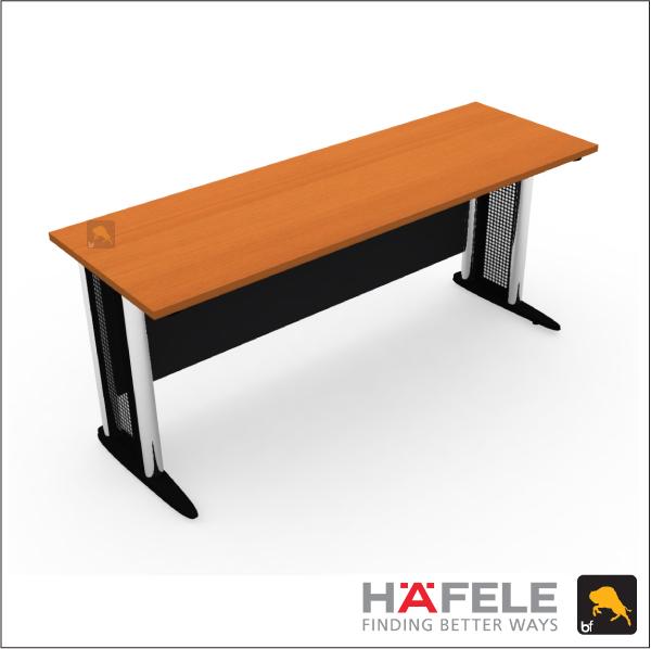 โต๊ะทำงาน โล่ง ขาเหล็ก ขนาด 180(ก) ซม. (เฟอร์นิเจอร์สำนักงาน)
