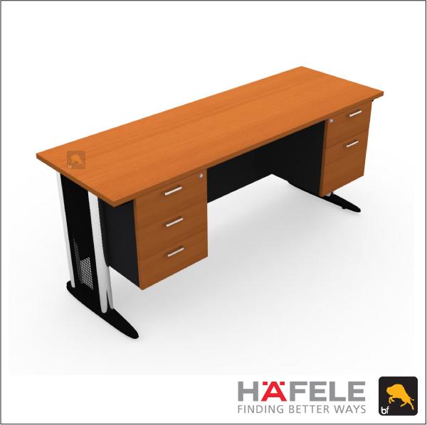 โต๊ะทำงาน 5 ลิ้นชัก ขาเหล็ก ขนาด 180(ก) ซม. (เฟอร์นิเจอร์สำนักงาน)