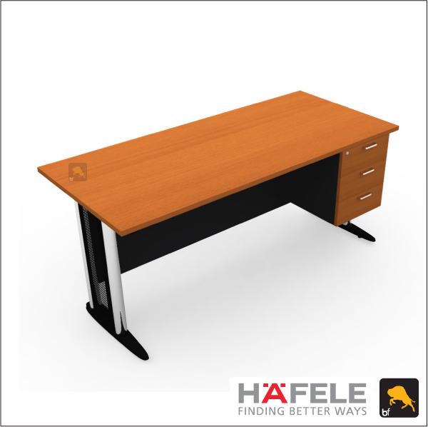 โต๊ะทำงาน 3 ลิ้นชัก ขาเหล็ก ขนาด 180(ก) ซม. (เฟอร์นิเจอร์สำนักงาน)