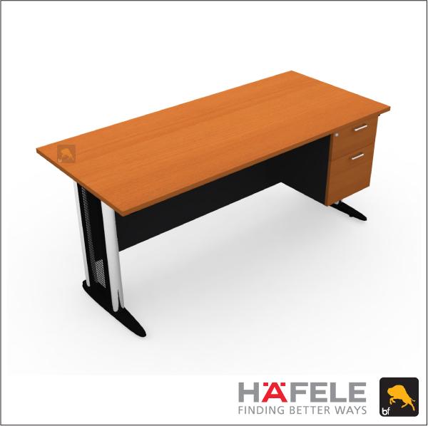 โต๊ะทำงาน 2 ลิ้นชัก ขาเหล็ก ขนาด 180(ก) ซม. (เฟอร์นิเจอร์สำนักงาน)
