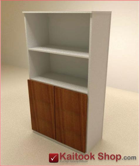ตู้เก็บเอกสารสูงด้านบนโล่ง ล่างบานเปิด-ปิดขนาด80(ก)*40(ล)*160(ส) ซม.