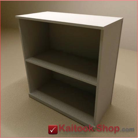 ตู้เก็บเอกสารเตี้ย 2 ชั้นโล่ง ขนาด80(ก)*40(ล)*80(ส) ซม.