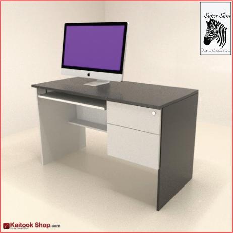 โต๊ะคอมพิวเตอร์ พร้อม 2 ลิ้นชัก  ขนาด120(ก)*60(ล)*75(ส) ซม. 2