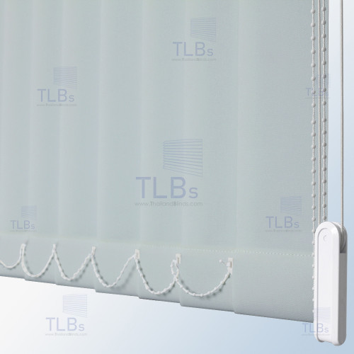 ม่านปรับแสง TLBs โปร่งแสง (เชือกปรับ) ขนาดใบ 8.9 ซม. ผ้า VX-006