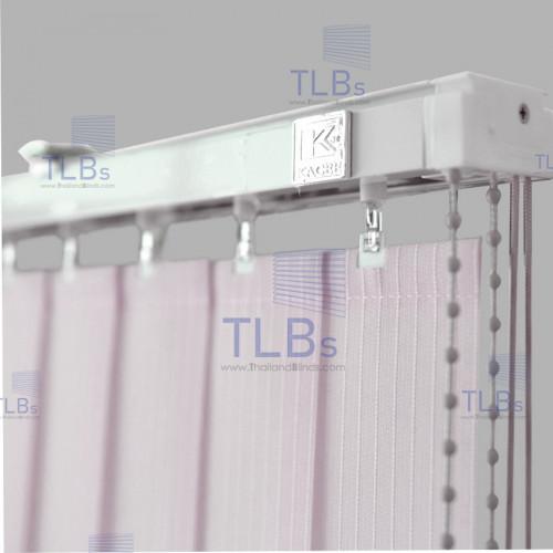ม่านปรับแสง TLBs โปร่งแสง (เชือกปรับ) ขนาดใบ 8.9 ซม.ผ้า B8615