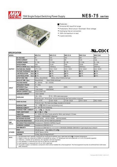 NES-75-24 (W97 x L159 x H38 mm)