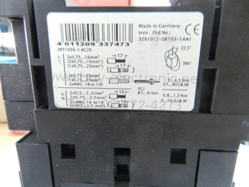 3RT1036-1AC20,Siemens - สินค้าใหม่ ได้ของชัวร์