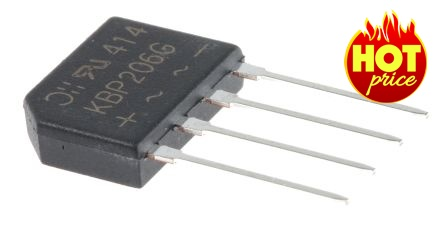 KBP202G,GSIB,KB,Diode Single Phase Bridge Rectifier 100V/2A,DiodesZetex
