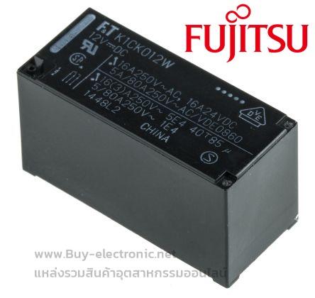 รหัส FTR-K1CK012W ,รายละเอียด Low Profile Power Relay Coil 12VDC , ยี่ห้อ FUJITSU