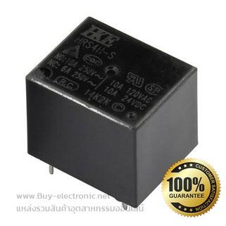 รหัส HRS4H-S-DC12V-C,รายละเอียด Relay Coil 12VDC 10A , ยี่ห้อ HKE